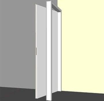 Binnendeurkozijn hardhout 56 x 90 mm wit-gegrond opdek