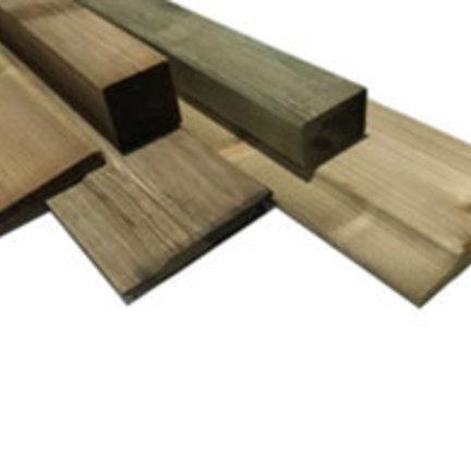 Tuinhout, balken, palen en planken voor schutting en tuin