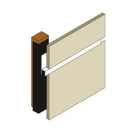 Rockpanel® stoeltjesprofiel A 6 mm blank