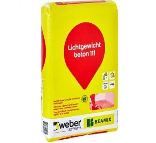 Weber Beamix lichtgewicht beton 111 (18kg)