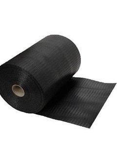 DPC folie 300mm zwart gewaveld 50m¹