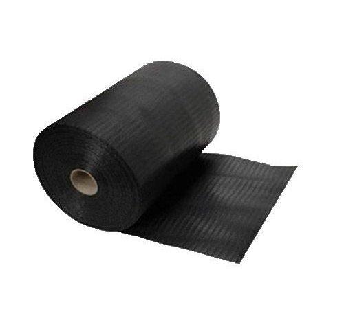DPC folie 450 mm zwart gewaveld 50m¹