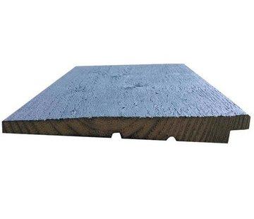 Zweeds rabat vurenhout zwart geimpregneerd 24 mm 480cm
