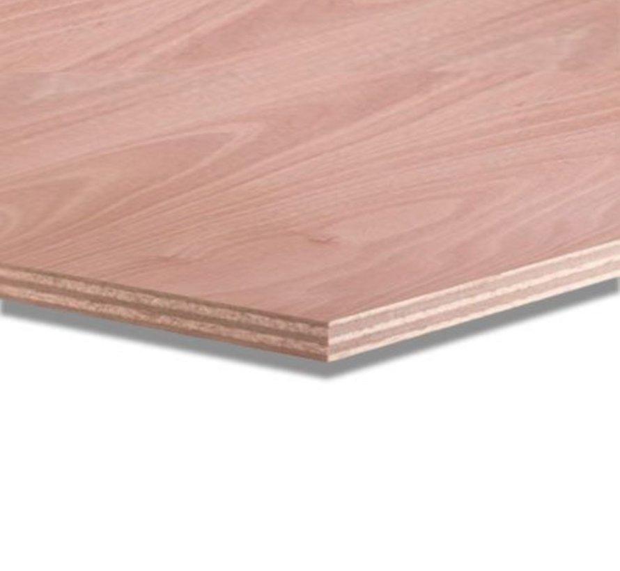 Okoume 12 mm garantieplaat 250 x 122cm 25jr.