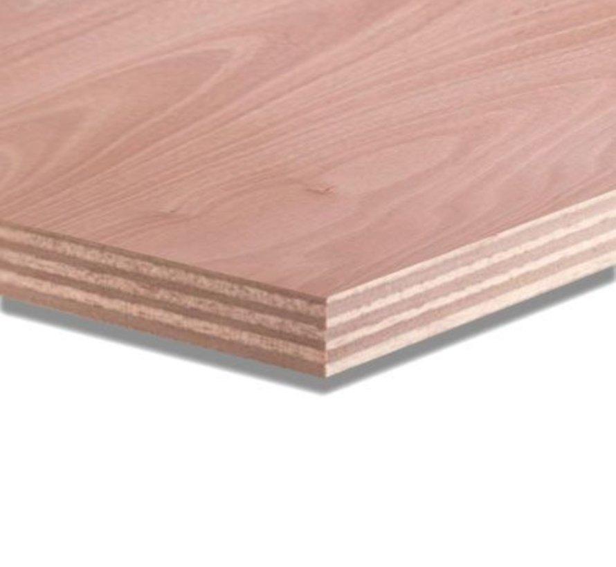 Okoume 18 mm garantieplaat 250 x 122cm 25jr.