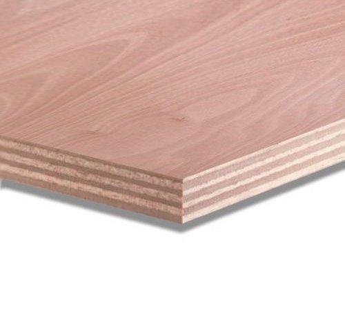 Okoume 25 mm garantieplaat 250 x 122cm 25jr.
