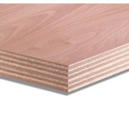 Okoume 40 mm garantieplaat 250 x 122cm