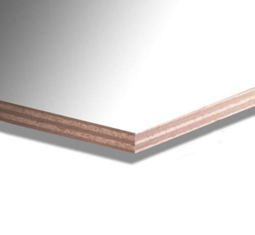 Okoume garantieplaat 10 mm gegrond 250 x 122cm 25jr.