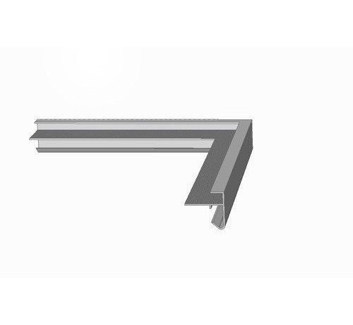 Roval daktrim aluminium buitenhoek 45 x 45 mm