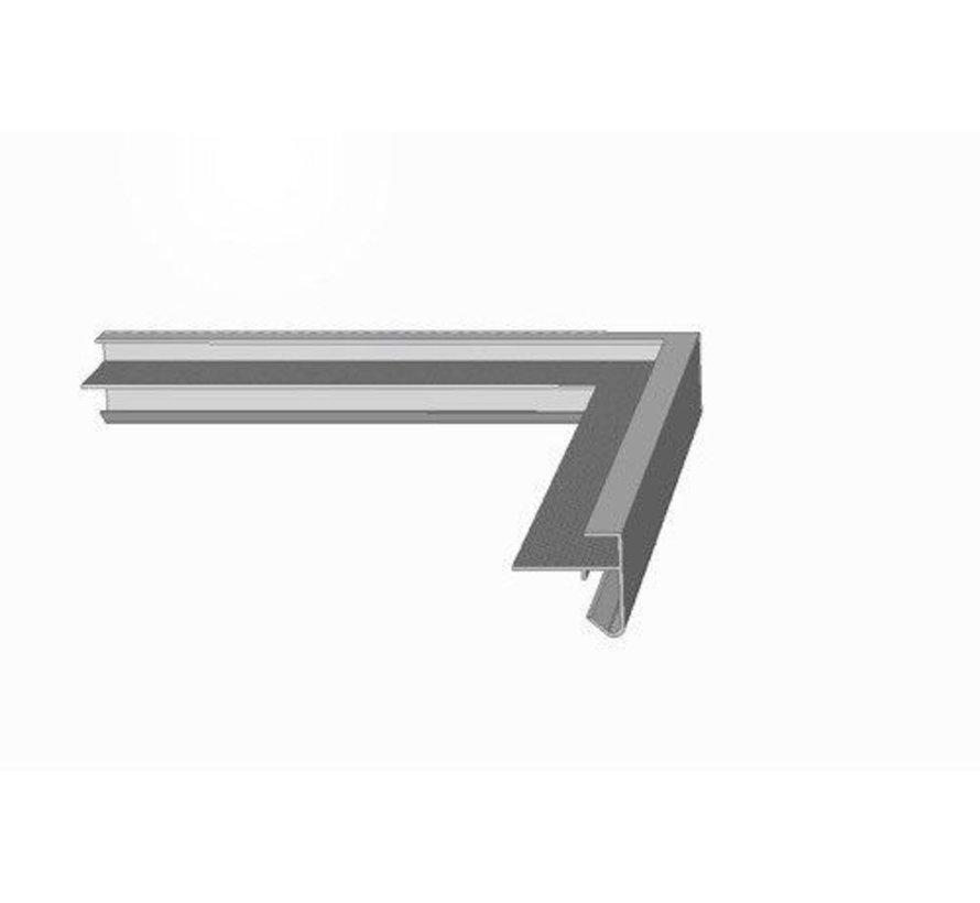 Roval daktrim aluminium buitenhoek 60 x 64 mm