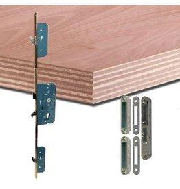 Multiplex deurplaat met ingefreesde driepuntsluiting
