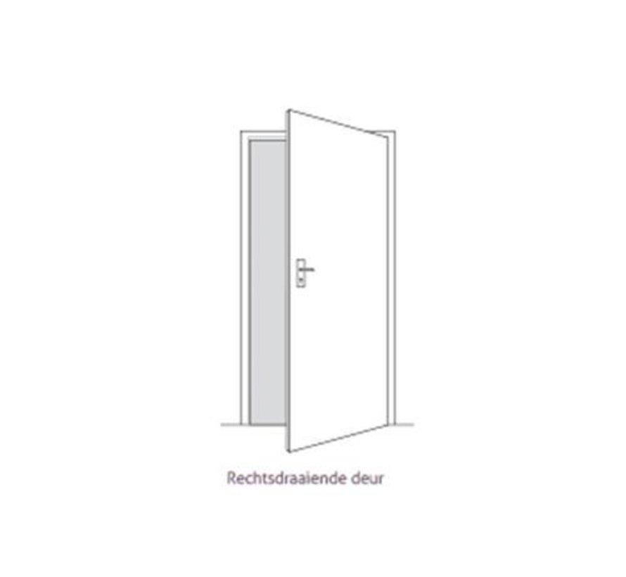 Berkvens® Berklon opdekdeur 2015 mm rein wit rechtsdraaiend