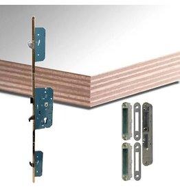 Multiplex deurplaat wit-gegrond met ingefreesde driepuntsluiting