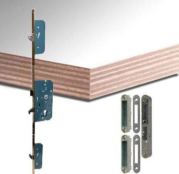 Okoume multiplex deurplaat wit-gegrond met driepuntsluiting
