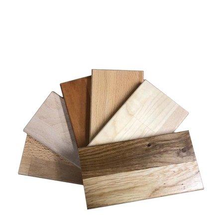 Vraag een proefstuk aan van het hout van uw voorkeur!
