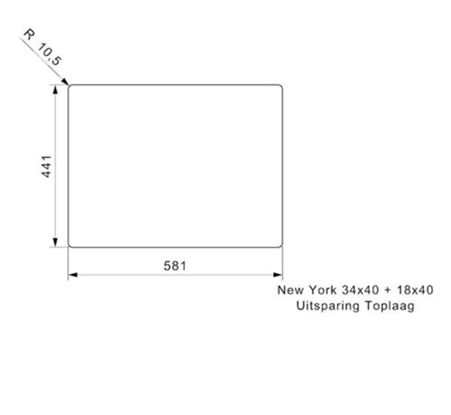 Reginox spoelbak New York RVS 34x40 + 18x40 R27806