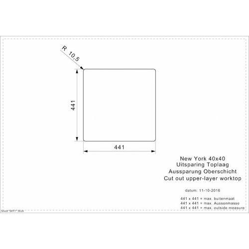 Reginox Reginox spoelbak New York RVS 40x40 R27639