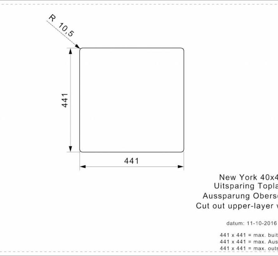 Reginox spoelbak New York RVS 40x40 R27639