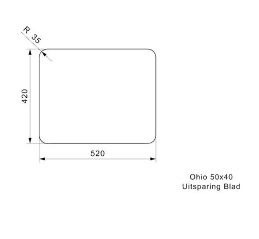 Reginox spoelbak Ohio Arctic White 50x40  R25956