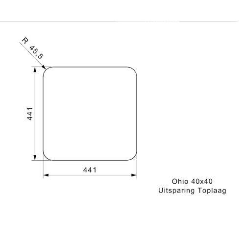 Reginox Reginox spoelbak Ohio Midnight Sky 40x40 R25949