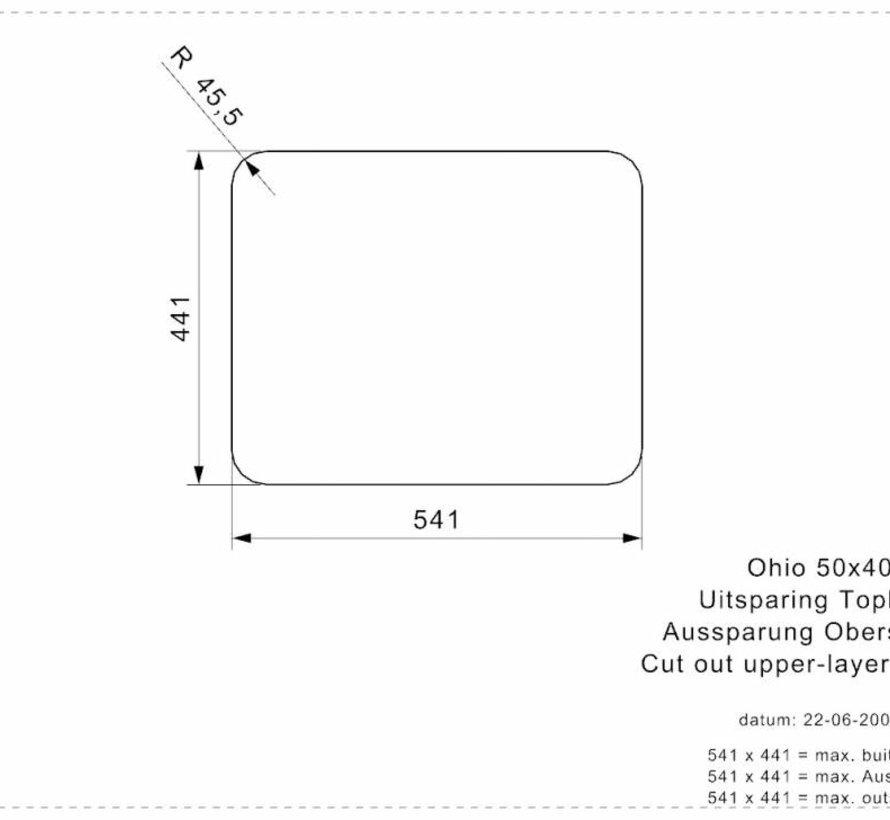 Reginox spoelbak Ohio Sahara Sand 50x40 R25963