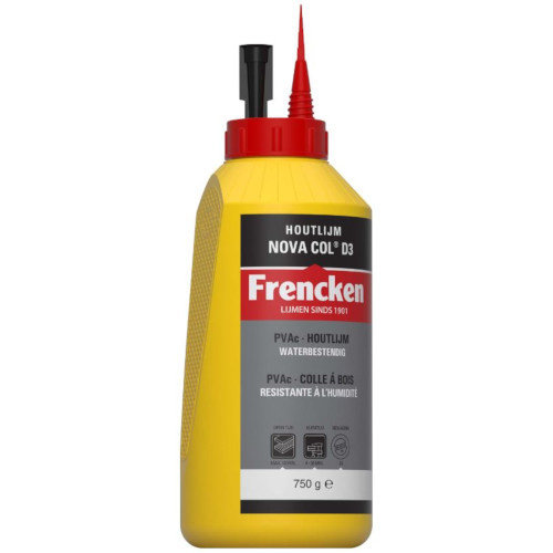 Frencken Houtlijm waterbestendig D3 wit (750ml)