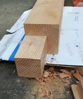 inkeping in de verticale balk maken