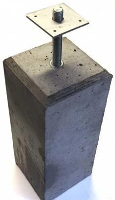 betonpoer plaatsen houten overkapping