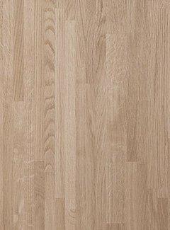 Massief houten werkblad Eiken A/B (gevingerlast)38mm 210x62cm