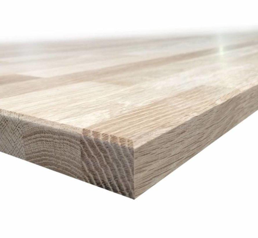 Massief houten werkblad Eiken Rustiek 27mm 300x90cm