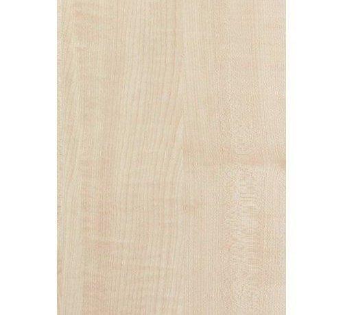 Massief houten werkblad Ahorn (gevingerlast)38mm 210x64cm