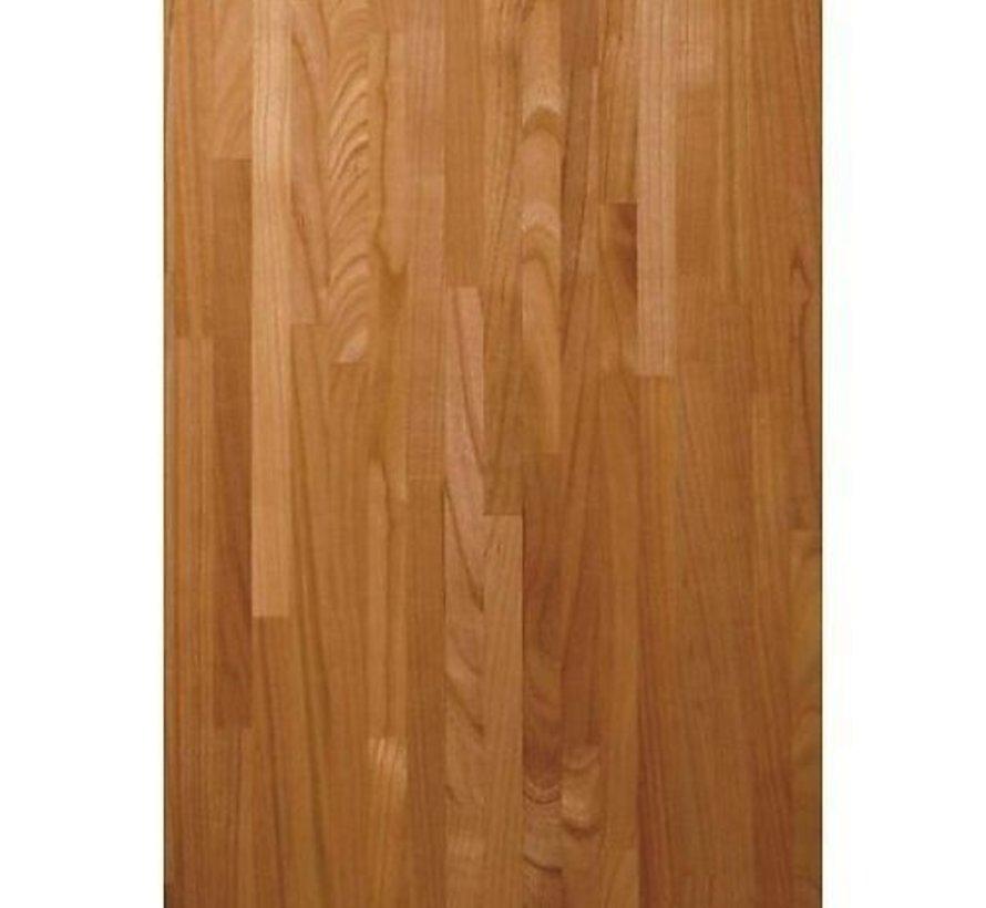 Massief houten werkblad Kersen (gevingerlast)27mm 210x64cm