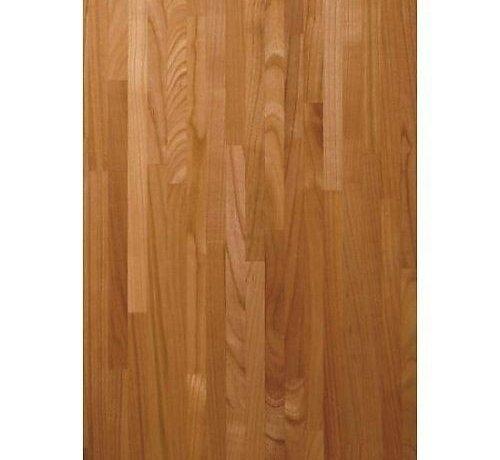 Massief houten werkblad Kersen (gevingerlast)38mm 210x64cm