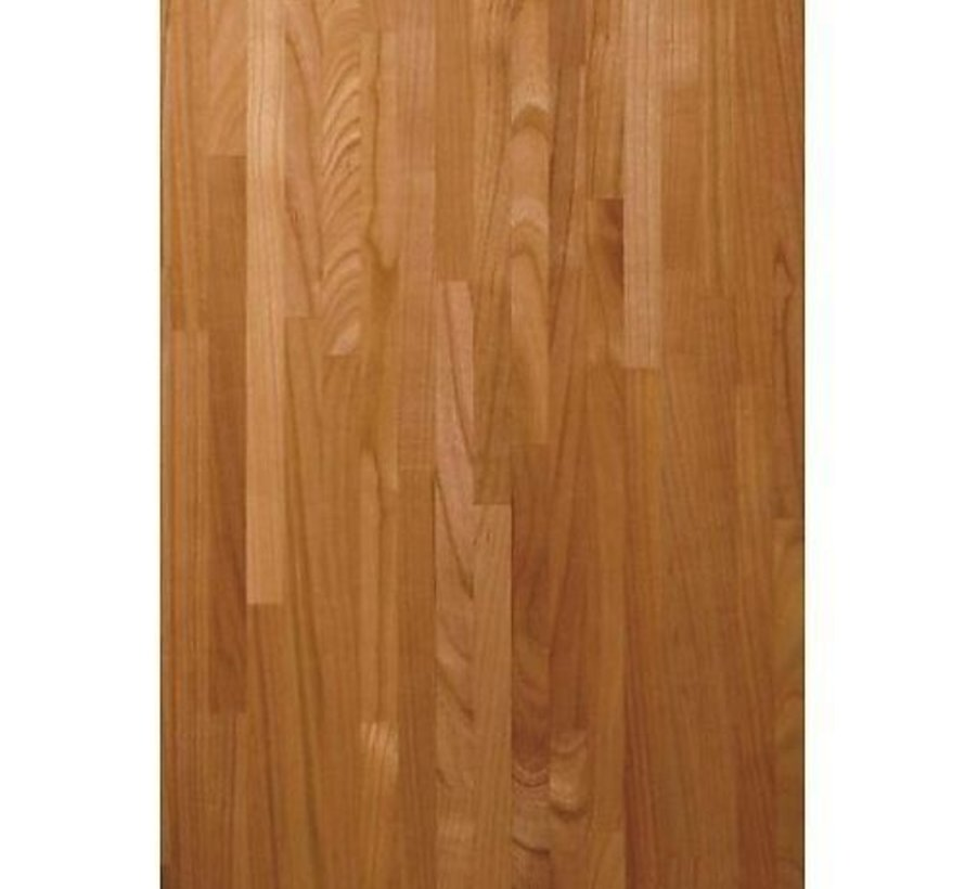 Massief houten werkblad Kersen (gevingerlast)40mm 250x60cm