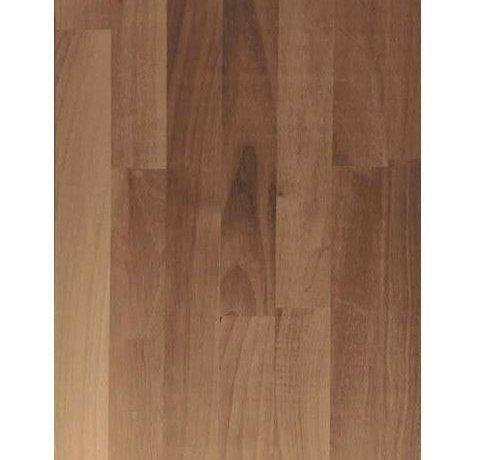 Massief houten werkblad Noten (gevingerlast)27mm 210x64cm