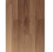 Massief houten werkblad Noten (gevingerlast)38mm 210x64cm