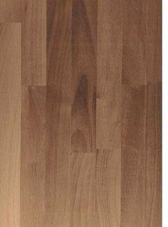Massief houten werkblad Noten (gevingerlast)38mm 210x92cm