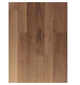 Massief houten werkblad Noten (gevingerlast)38mm 420x64cm