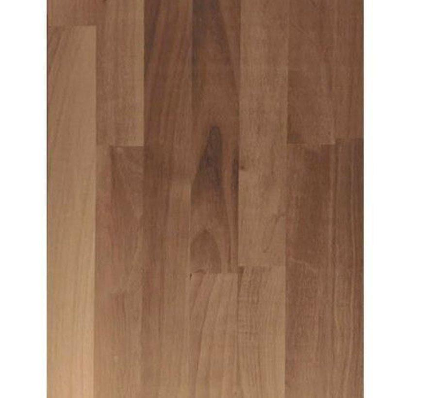 Massief houten werkblad Noten (gevingerlast)40mm 420x122cm