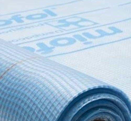 Miofol® bouwfolie 125G dampopen 37.5m² (Blauw)