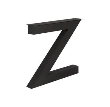 Stalen Z-poten 10x10cm kokerprofiel matzwart SET 2 st.
