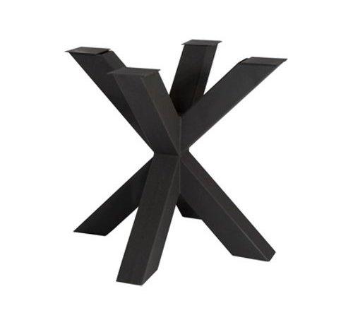 Spinpoot staal matzwart poedercoating 80x80cm