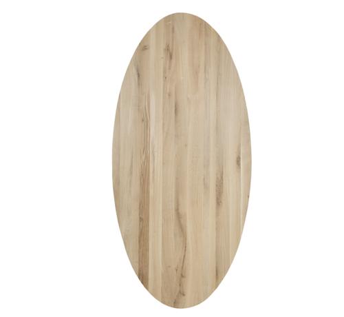 Eiken tafelblad Ovaal - 40mm dik