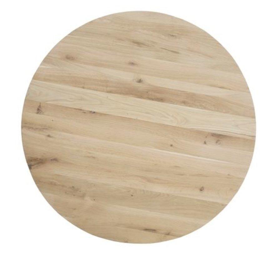 Eiken tafelblad Rond - 40mm dik