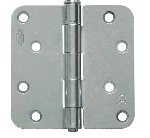 Oxloc® scharnier 89 x 89 mm rond topcoat verzinkt