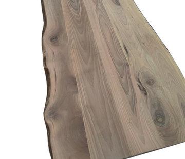 Bouwonline Notenhout Tafelblad 27mm boomkant