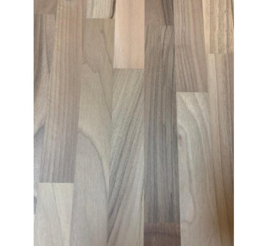Massief houten werkblad Noten - gevingerlast 19mm 210x92cm