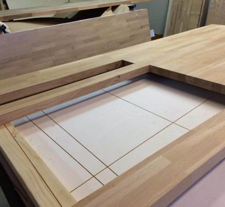 Massief houten werkblad Beuken 27mm 420x62cm