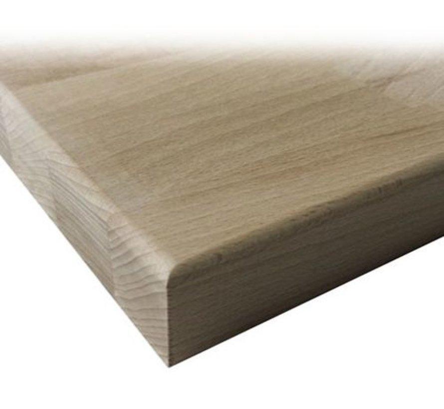 Massief houten werkblad Beuken 27mm 210x62cm