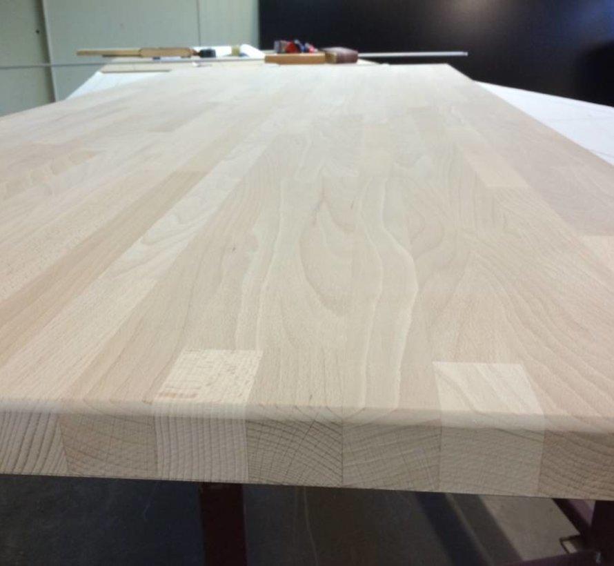 Massief houten werkblad Beuken 27mm 150x90cm